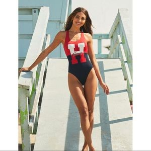 Tommy Hilfiger H Logo One Piece Swimsuit